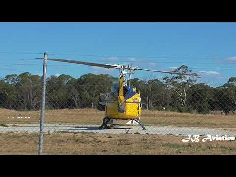 Bell 214B Helicopter Landing at Bendigo Airport DSE Airbase  Pilot - Lochie