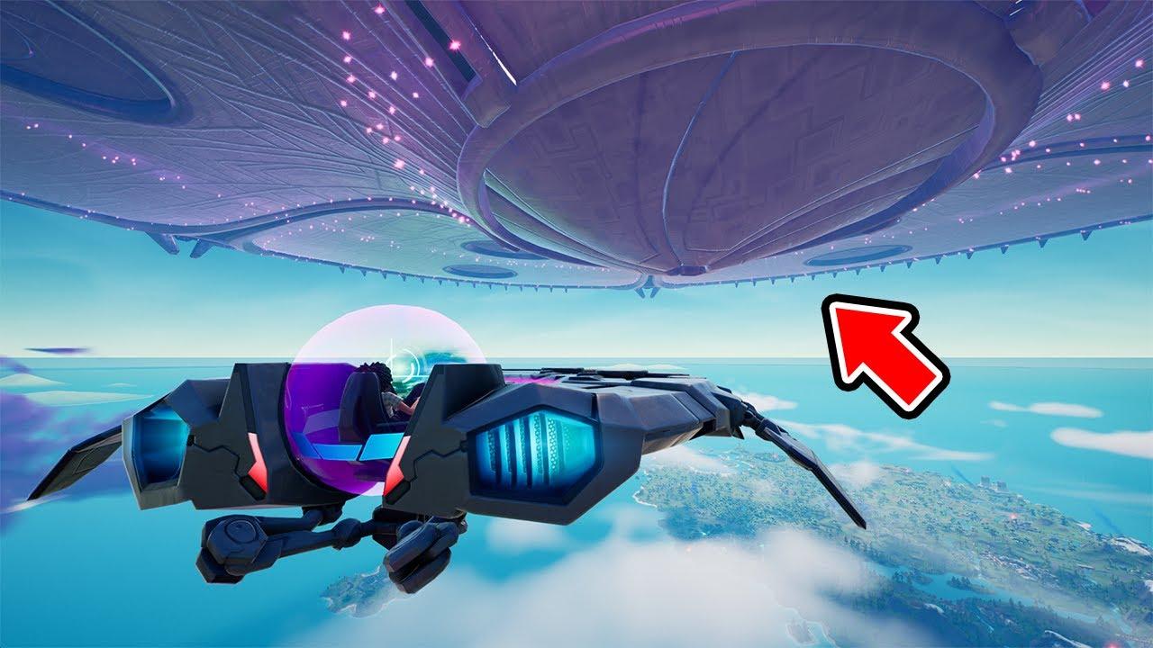 UFOで巨大宇宙船に入ってみた【フォートナイト】