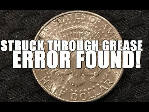 Struck Through Grease Error Found! What Is A Struck Through Grease Error?  Half Dollar
