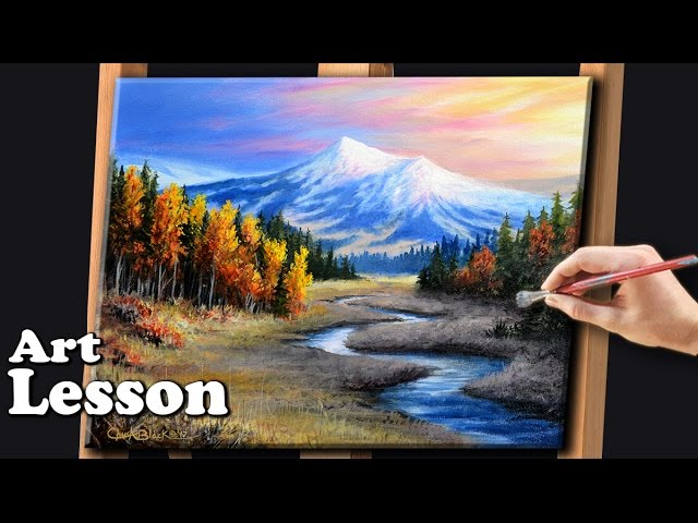Painting A Realistic Landscape With Acrylics Youtube