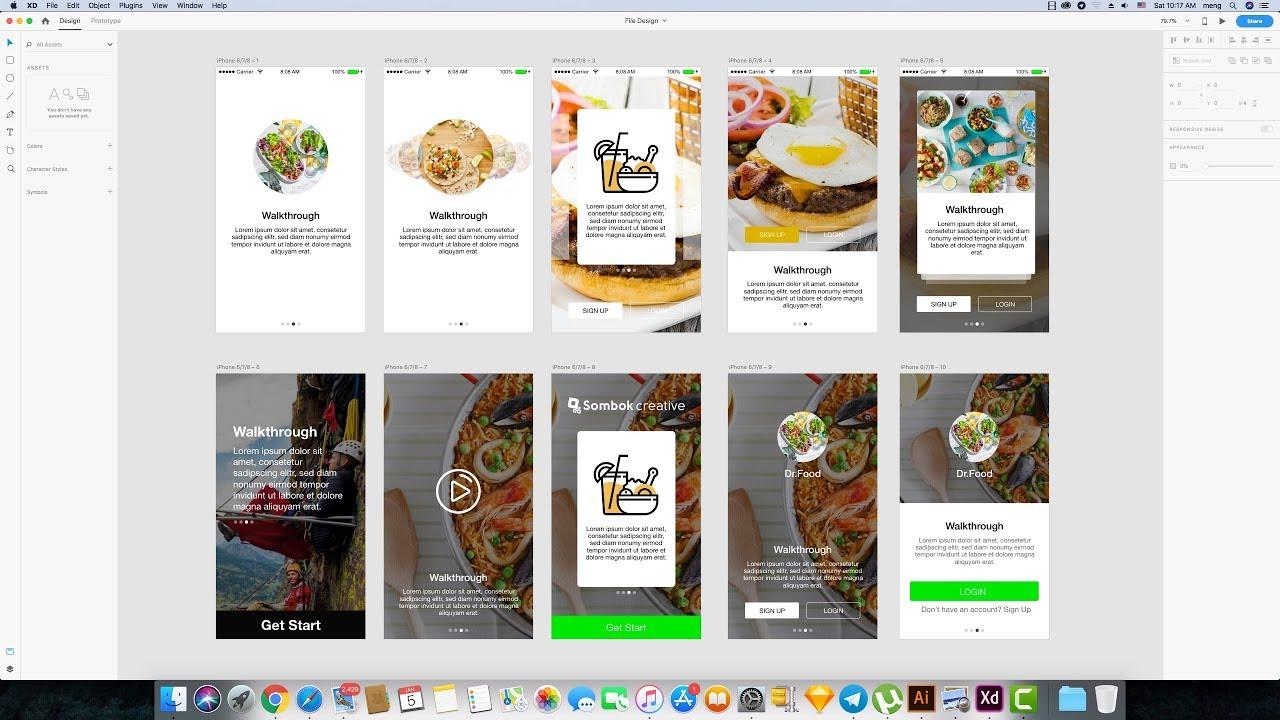 Concept UI Walkthroughs Design to Tool Adobe XD CC 2019