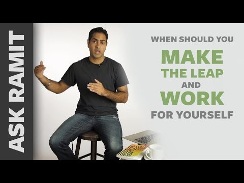 Ask Ramit: When should you make the leap and work for yourself?
