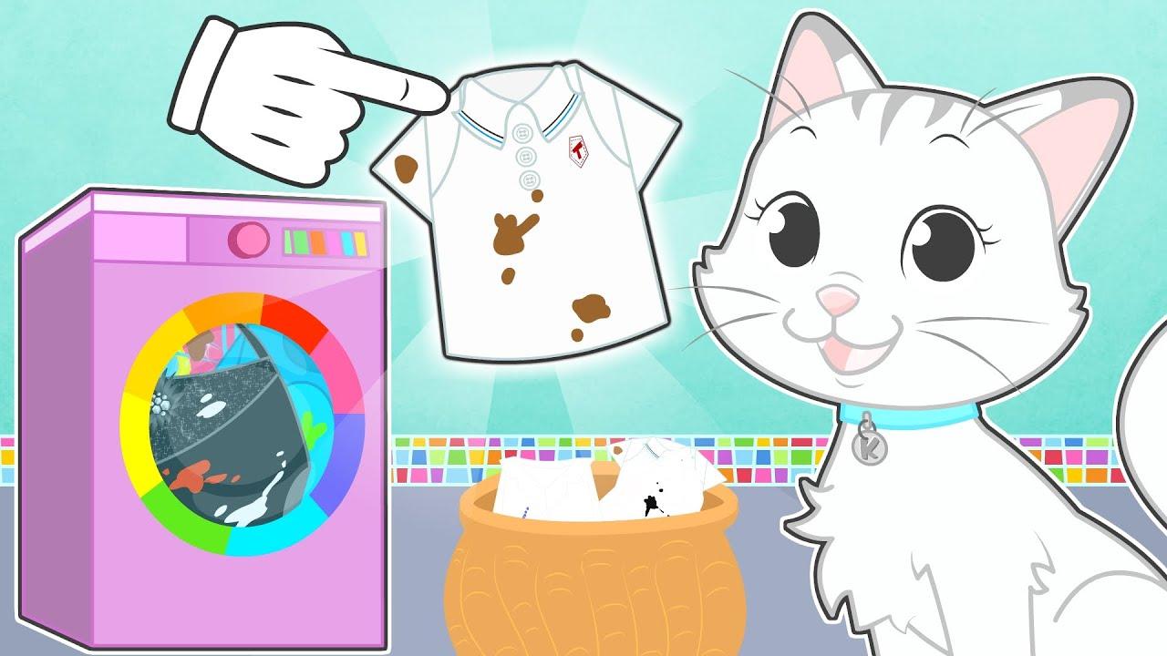 BABY PETS 👗🧼 Kira aprende cómo hacer la colada
