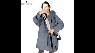 Pinkyisblack длинные парки новинка 2020 года сезон осень зима куртки в военном стиле женские