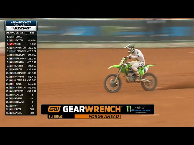 GEARWRENCH 450SX Supercross Top Performance - Round 13