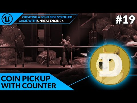 Coin Pickup & Counter - #19 Creating A SideScroller With Unreal Engine 4