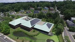 Solar Panels on Greenburgh Town Hall in Westchester NY Installed by SunBlue Energy | Aerial Video