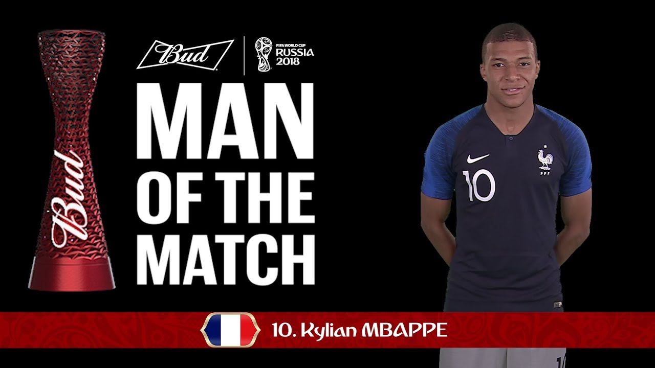 purchase cheap d028a 6deb9 Kylian MBAPPE (France) - Man of the Match - MATCH 50