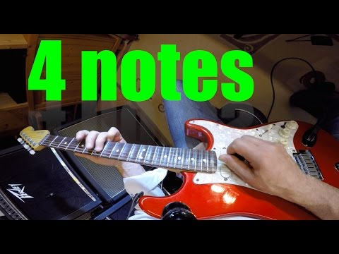 4 Notes Guitar Solo Lesson - Walter Apa