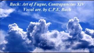 bach art of fugue contrapunctus xiv vocal