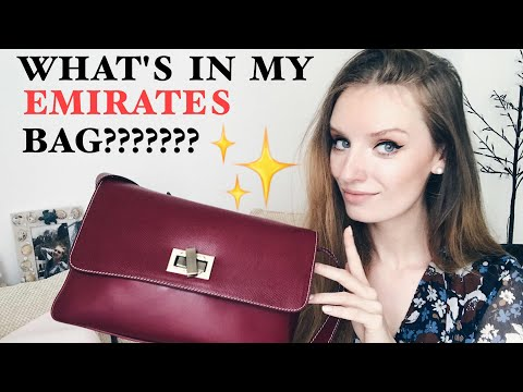 VLOG 117. WHAT'S IN MY EMIRATES CABIN CREW RED BAG???? ✨✨✨