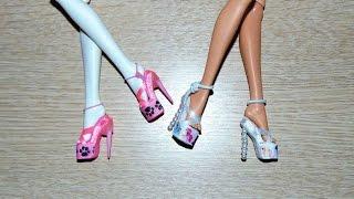 як зробити туфлі для ляльки монстер хай з гумок