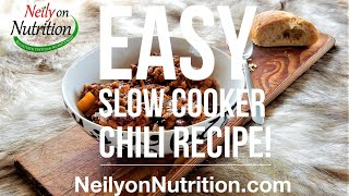 Easy Slow Cooker Chili Recipe! What's In Neily's Slow Cooker? Turkey Chili
