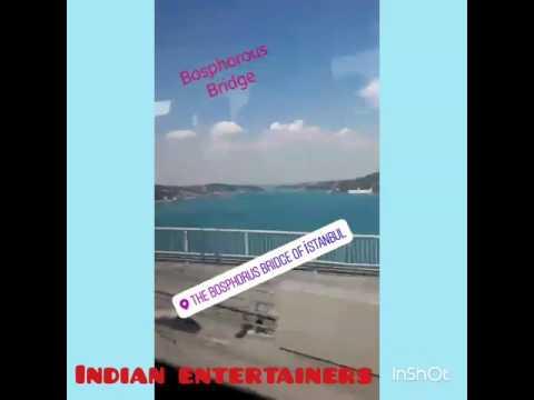 The Bosphorous Bridge of Istanbul, Turkey. This bridge is echeloned of Asia and Europe