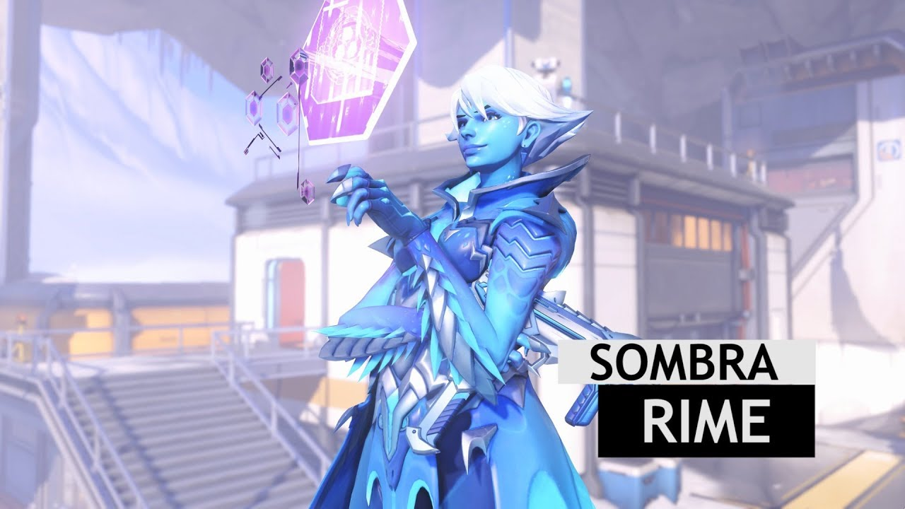 Sombra Christmas Skin 2020 Overwatch: Rime Sombra Skin In Game + Gold Gun [Winter Wonderland