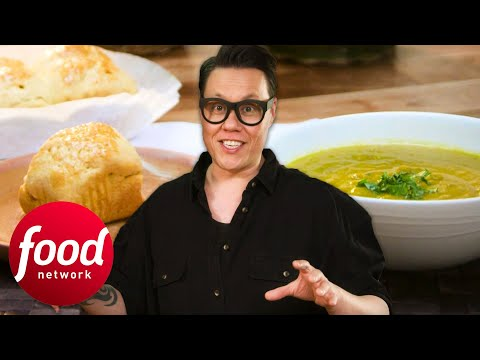 Gok Cooks A Delicious Spiced Lentil Soup & Baked Johnny Cakes | Gok Wan's Easy Asian