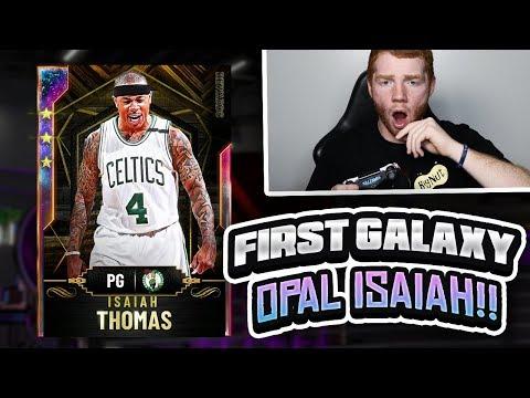 WORLDS FIRST GALAXY OPAL ISAIAH THOMAS!! WE FULLY EVOLVED HIM! (NBA 2K20 MYTEAM)