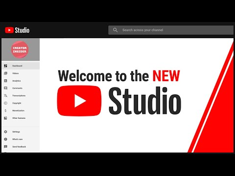 Introducing the NEW YouTube Studio