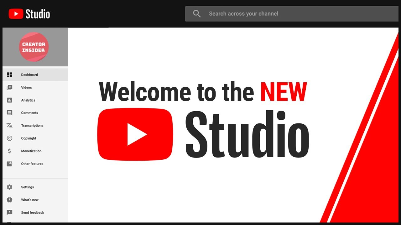 Introducing the NEW YouTube Studio