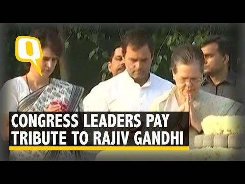 Congress Leaders Pay Tribute to Rajiv Gandhi on His Death Anniversary | The Quint