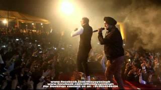 yo yo honey singh and mafia mundeer performing in noida @ tech mahindra live part-4
