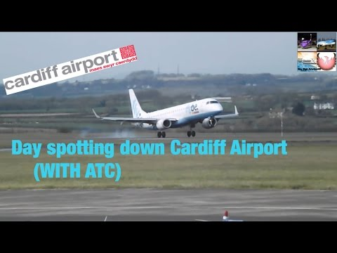 Day Spotting down Cardiff airport (WITH ATC)