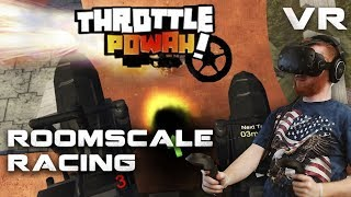 Throttle Powah: VR racing with unique locomotion and Rocket League style gameplay