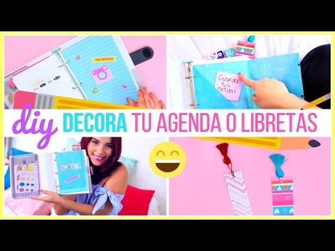 DIY DECORA TUS CUADERNOS, AGENDA O CARPETA POR EL INTERIOR FÁCIL ♥ Jimena Aguilar