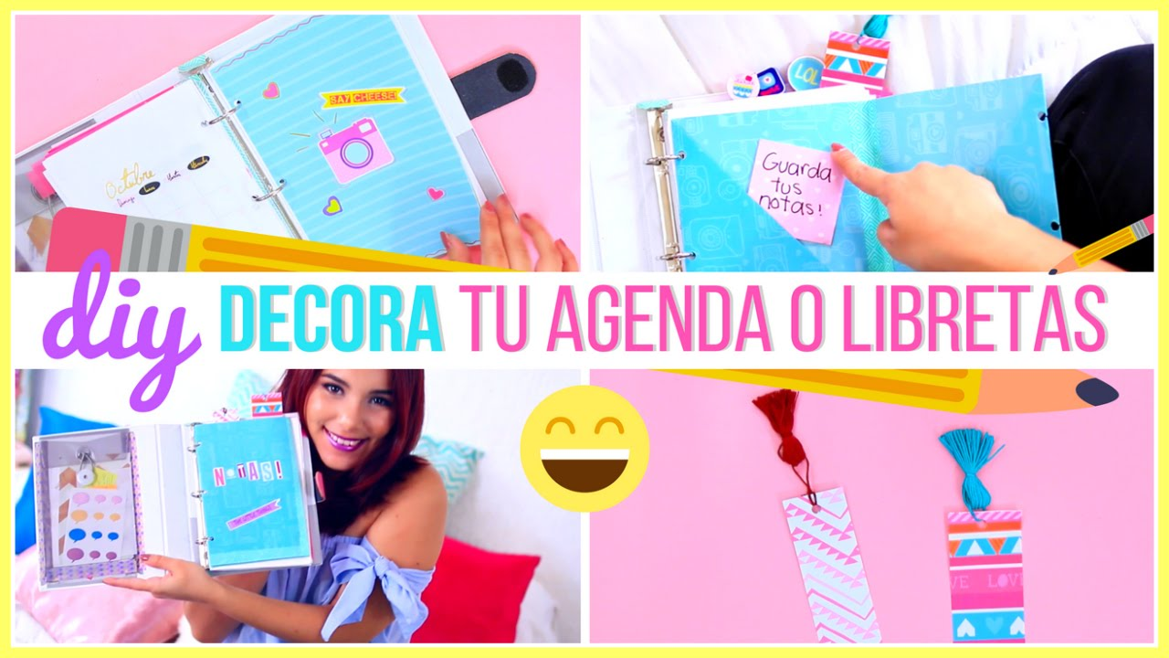 Portadas Para Decorar Cuadernos Libretas Y Agendas: Ideas Para Decorar Cuadernos Y Libretas DIY T