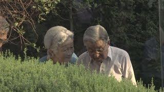 両陛下、旧正田邸を散策 ゆかりの植物観賞 高輪皇族邸 検索動画 11
