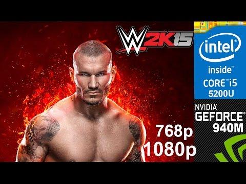 WWE 2K15 on HP Pavilion 15-ab032TX, Max Setting 1080p/768p, Core i5 5200u + Nvidia 940m