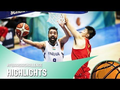 India v China - Highlights - FIBA Asia Challenge 2016
