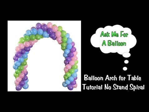 How to make a balloon arch for your party doovi for Balloon arch no helium