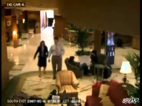 Business Man Goes Crazy In Hotel Lobby