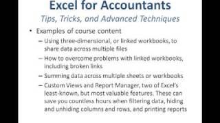 Excel for Accountants: Tips, Tricks, and Advanced Techniques