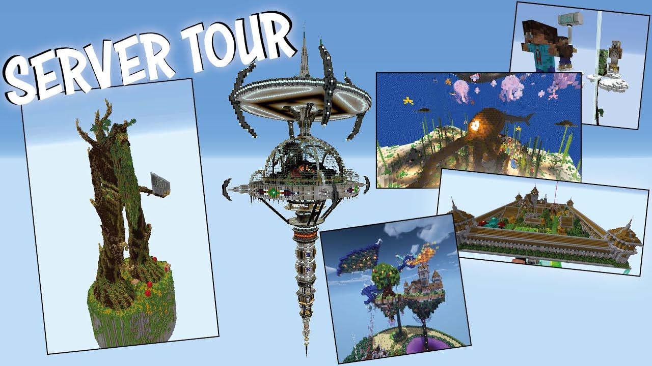 20 AMAZING Minecraft Build Ideas   Minecraft Skyblock Server Tour (Season 3)