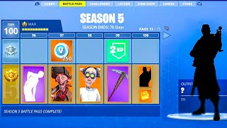 Saison 5 TIER 100 Battle Pass... (Fortnite Saison 5 Battle Pass)