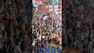 Genoa - Lecce 4-0 Gradinata Nord a fine partita