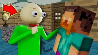 Baldi Built A MASSIVE MINECRAFT MANSION!!!   Baldi's Basics In Education And Learning (Mods)