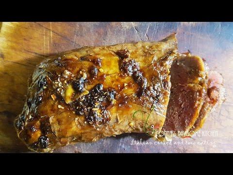 VEGAN CRISPY DUCK MEAT    Connie's RAWsome kitchen SEITAN spicy ginger sauce bonus