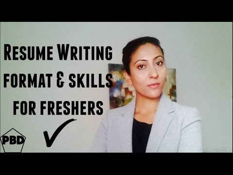 How to write a professional resume for freshers