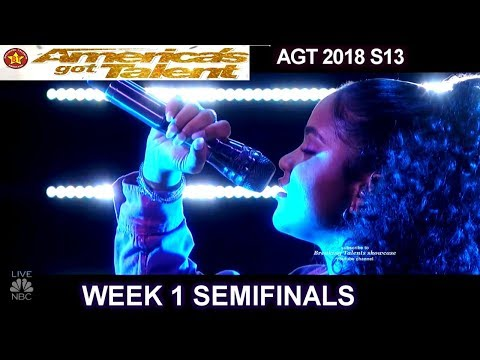 "Amanda Mena  ""Happy"" Her Version & HER BEST PERFORMANCE  Semifinals 1 America's Got Talent 2018 AGT"