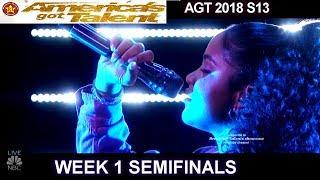 Amanda Mena Happy Her Version & HER BEST PERFORMANCE Semifinals 1 America's Got Talent 2018 AGT