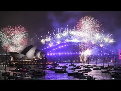 video: Australia welcomes in New Year with huge fireworks display as wildfires ravage the country