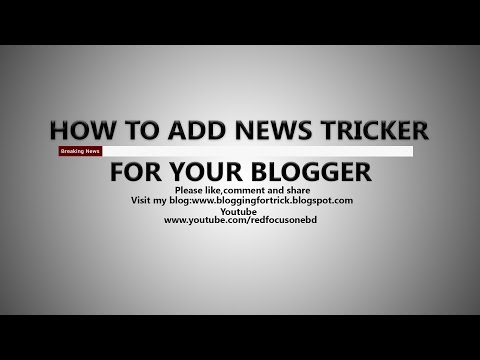 Add Breaking News Tricker For Your Blogger