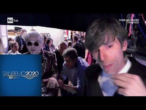 Sanremo 2020 - Lite tra Morgan e Bugo, il video del backstage prima e dopo l'esibizione