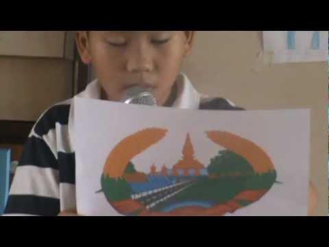 เด็กปัตตานีแนะนำตราแผ่นดินอาเซียน