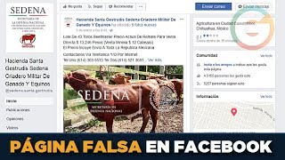 Sedena alerta sobre página falsa en Facebook