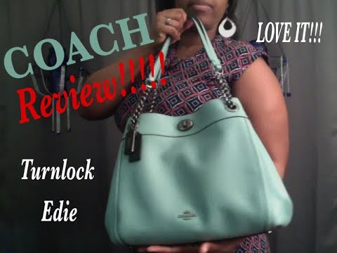 39757ded94a COACH Turnlock Edie Review (I LOVE THIS BAG!!!) - YouTube