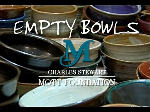 Empty bowls call attention to rising hunger
